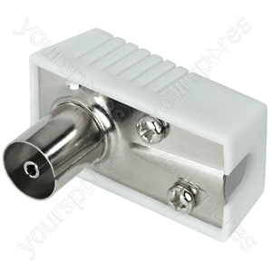 Antenna Jack - Right-angle Coaxial Antenna Plug And Inline Jack