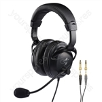 Headset - Professional Stereo Headphones With Dynamic Boom Microphone