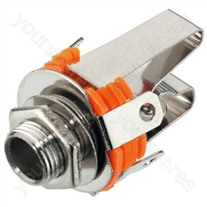 Jack Socket - 6.3 mm Stereo And Mono Panel Jacks