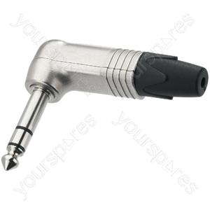 6.3mm Right Angle Stereo Plug - Neutrik 6.3mm Plugs, Right-angle
