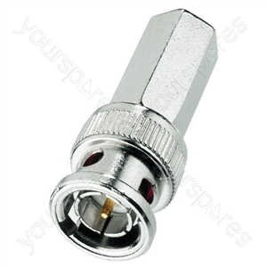 BNC Plug - Bnc Screw Plug For Cables: ø 6 mm, 75 ω