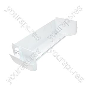 Servis White Plastic Fridge Door Bottle Shelf