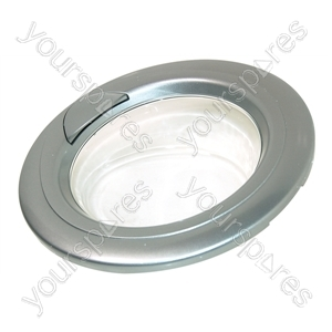 Indesit Silver Washing Machine Door Assembly