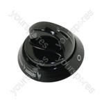 Cannon Black Hotplate Control Knob