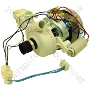 Hotpoint Wash motor/pump assy 1/2 load Spares