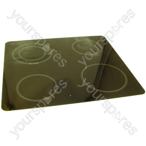 Ceramic Hob Glass Assy - White