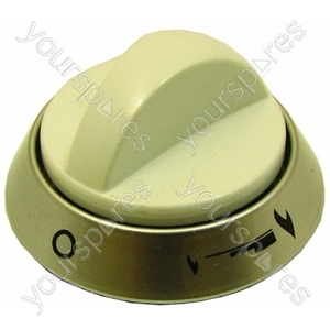 Indesit White Top Oven/Grill Knob Assembly