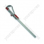 Wand Handle Steel/red
