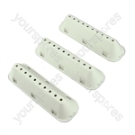 3 X Genuine Indesit Washing Machine Drum Paddle Lifter 10 Hole