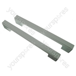 2 x Universal White Fridge Freezer Door Handle 240mm-275mm