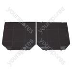 Faber EFF72 Carbon Charcoal Cooker Hood Filter Pack of 2