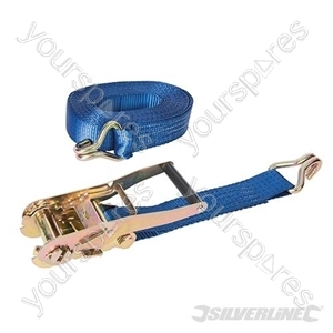 Ratchet Tie Down Strap J-Hook 8m x 50mm - Rated 1700kg Capacity 4750kg