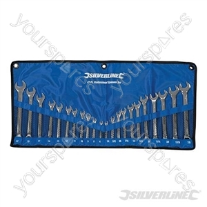 Combination Spanner Set 22pce - 6 - 22mm & 1/4 - 7/8""