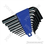 "Hex Key Set 10pce - 1/16"" - 3/8"""